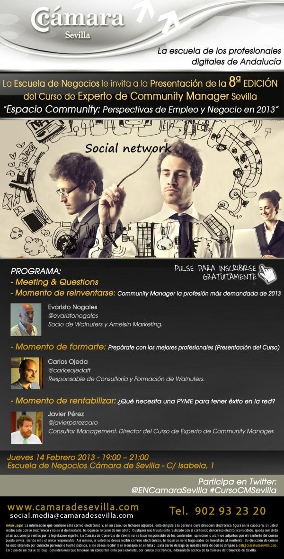 presentación de la 8ª edición del Curso de Experto en Community Manager en Sevilla