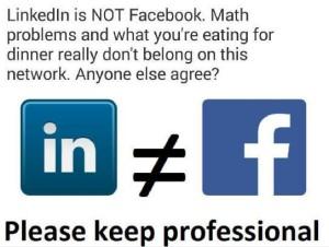 LinkedIn no es Facebook